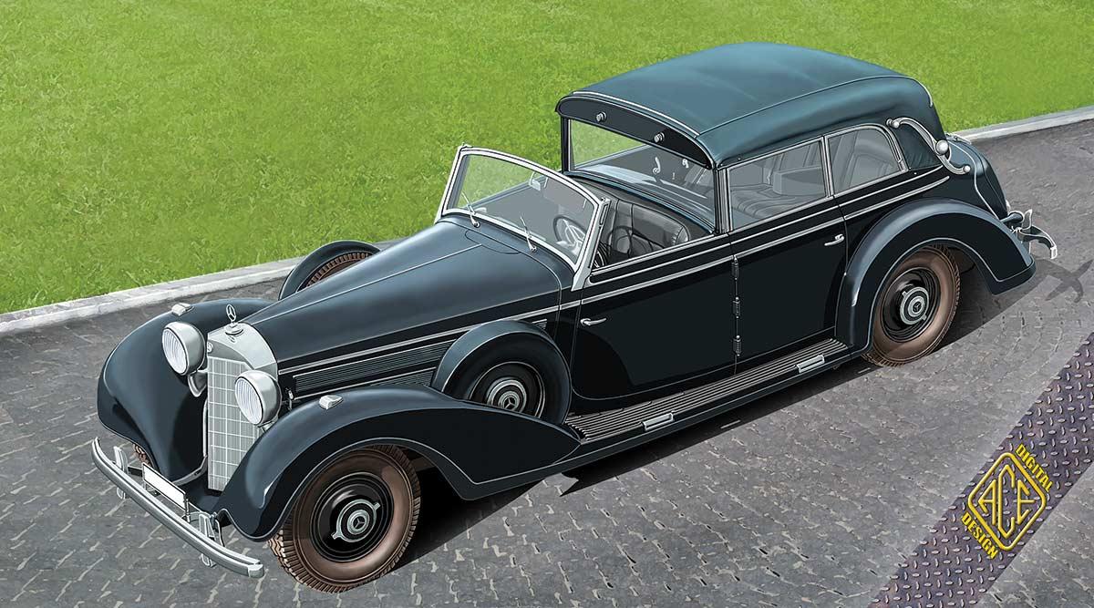 ace model german grosser limo 770k w 150 cabriolet f 7 passenger touring. Black Bedroom Furniture Sets. Home Design Ideas